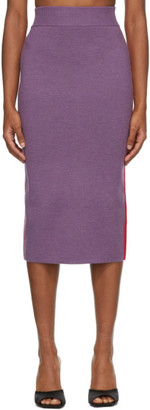 Victor Glemaud Purple and Red Colorblock Skirt
