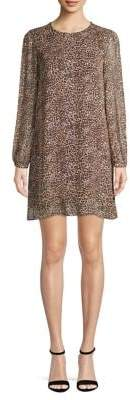 Marella Leopard-Print Long-Sleeve Dress