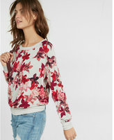 Express one eleven floral sweatshirt