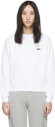 MAISON KITSUNÉ White Smiley Fox Sweatshirt