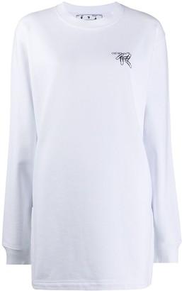 Off-White Logo-Print Sweatshirt Dress