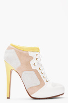 McQ by Alexander McQueen White Sport Shoe High-heeled Boots