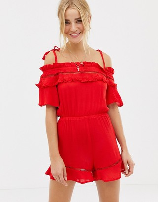 Glamorous playsuit-Red