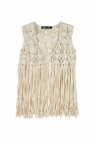 Winter Kate Gypsy Rose Vest in Ivory