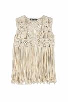 Winter Kate Gypsy Rose Vest in Ivory