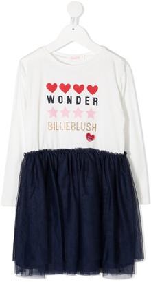 Billieblush Contrast-Panel Midi Dress