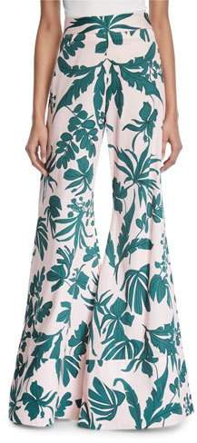 Alexis Dasha Tropical Wide-Leg Pants