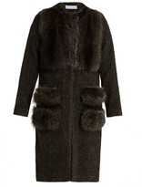 Inès & Marèchal Alcyon fur-panel wool-blend coat