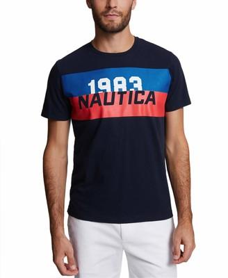 Nautica Men's Heritage Short Sleeve Crew Neck 100% Cotton T-Shirt