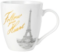 Pfaltzgraff Paris Follow Your Heart Mug