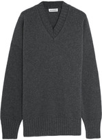 Jil Sander Oversized Wool And Cashmere-blend Sweater - Dark gray