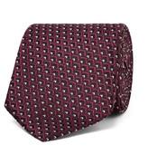 Ermenegildo Zegna 7cm Silk-jacquard Tie - Burgundy