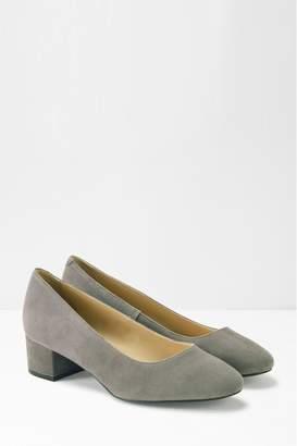 White Stuff Womens Lois Low Court Block Heels - Grey