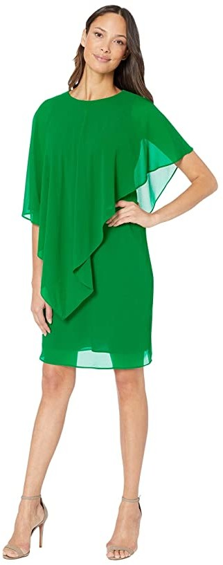 Lauren Ralph Lauren Gaeline Day Dress (Malachite) Women's Dress