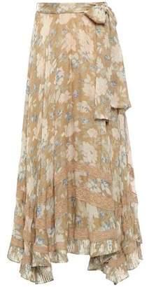 Zimmermann Asymmetric Belted Floral-print Silk-chiffon Skirt