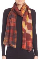 Bindya Winter Checks Cashmere & Silk Scarf