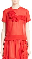 Comme des Garcons Ruffled Georgette Top