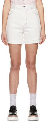 Stella McCartney White Shared OBS 23 Contrast Stitch Shorts