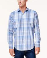 Tasso Elba Men's Campari Plaid Shirt, Created for Macy's