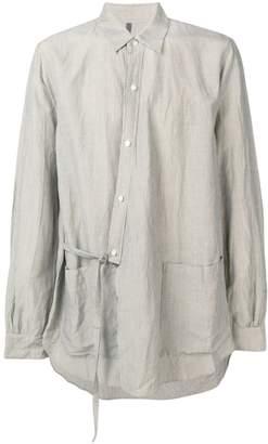 Attachment Side Belt Detail Shirt