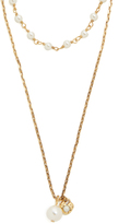 Marc Jacobs Imitation Pearl Strands Necklace