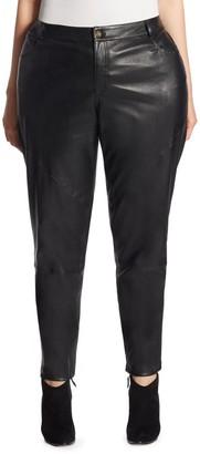 Lafayette 148 New York, Plus Size Mercer Leather Pants