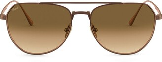 Persol Oversized Aviator-Frame Sunglasses