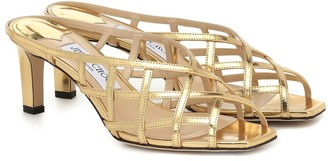Jimmy Choo Sai 65 metallic leather sandals