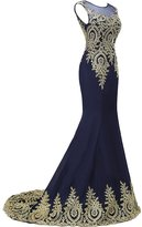 Sunvary Mermaid Appliques Mother of the Bride Dresses Prom Gowns for Woman Size