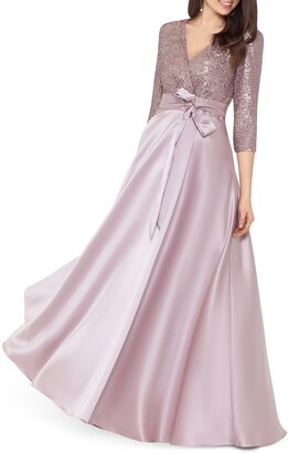 Xscape Evenings Sequin & Satin A-Line Gown