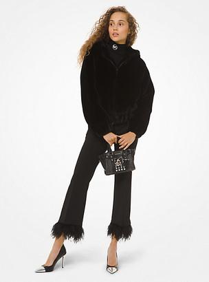 MICHAEL Michael Kors MK Faux Fur Hooded Jacket - Black - Michael Kors