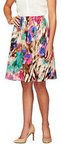 Sunny Leigh Release Pleat Printed Pull-on Skirt with Lining