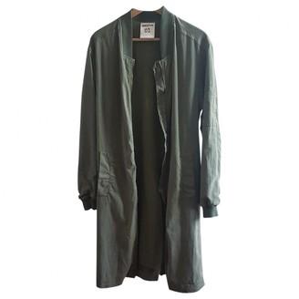 Semi-Couture Semicouture Green Cotton Coat for Women