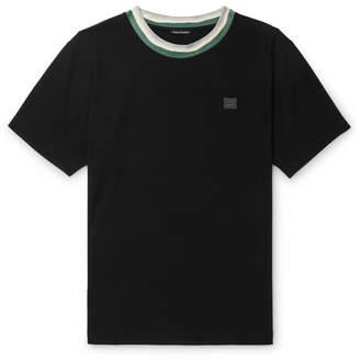 Acne Studios Nash Logo-Appliqued Stretch-Jersey T-Shirt
