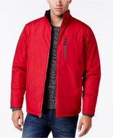Izod Men's Reversible Ripstop Stand-Collar Coat