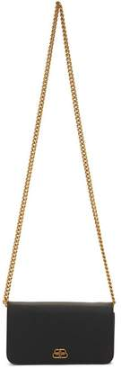 Balenciaga Black BB Phone On Chain Bag