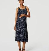 LOFT Petite Maternity Flounce Dress