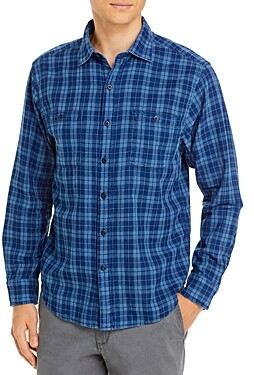 Tommy Bahama Double Indigo Regular Fit Button-Down Shirt