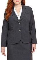 Calvin Klein Plus 2-Button Suit Jacket