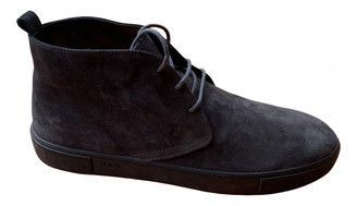 Tod's Anthracite Suede Boots