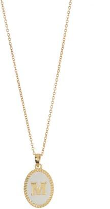 Argentovivo 18K Gold Vermeil Initial Pendant Necklace - Multiple Letters Available