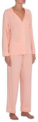 Eberjey Gisele - PJ Set (Graphite/Sorbet Pink) Women's Pajama Sets