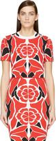 Alexander McQueen Red Matisse Print Cropped Top