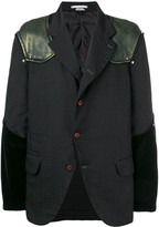 Comme des Garcons Pre Owned mixed fabric blazer