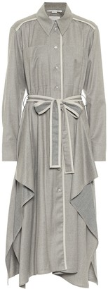 Stella McCartney Leilani wool flannel shirt dress