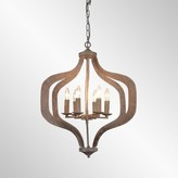 Bungalow Rose Gaertner 6-Light Lantern Geometric Pendant