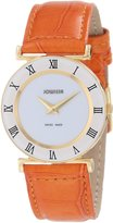 Jowissa Women's J2.032.M Roma Colori 30mm Gold PVD Orange Leather Roman Numeral Watch