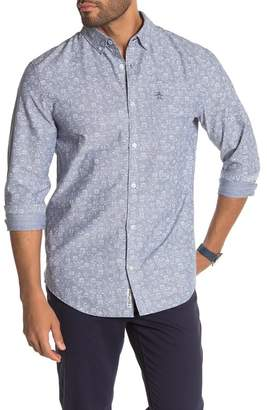 Original Penguin Bowling Print Chambray Shirt