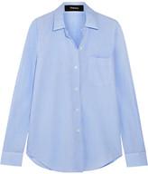 Theory Cotton Shirt - Light blue