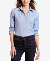 Lauren Ralph Lauren Petite Striped Stretch Shirt